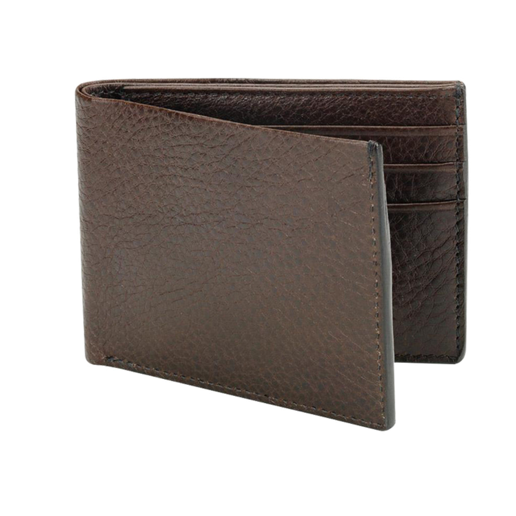 Leather Bifold Wallet, Chestnut