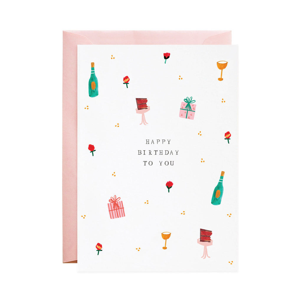 Vanilla Cake & Bubbly - Greeting Card