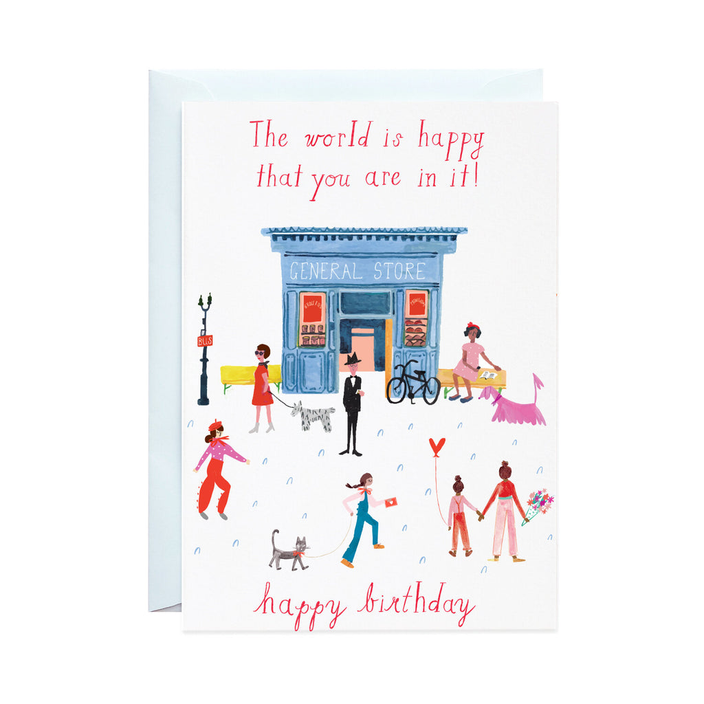 Party on Main Street - Greeting Card