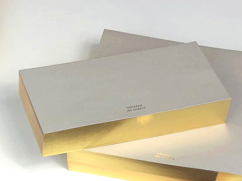 Color Pad with Gilded Edge, Medium Long, Greige