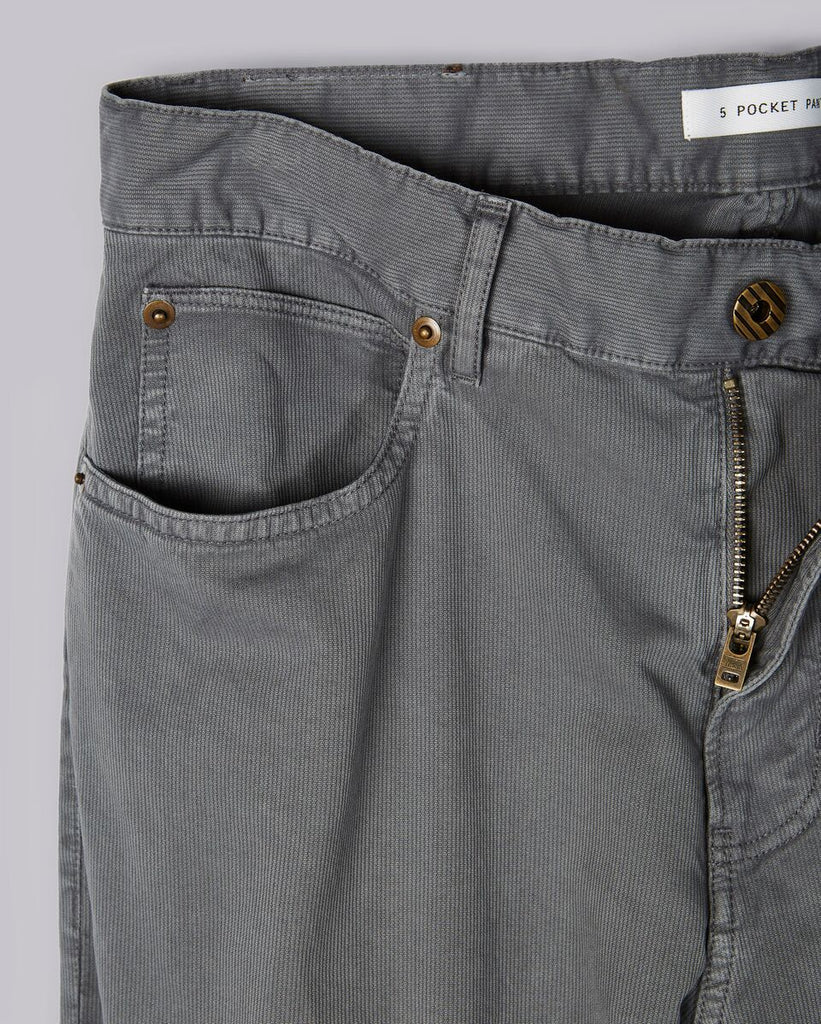 Corduroy 5 Pocket Pant, Grey