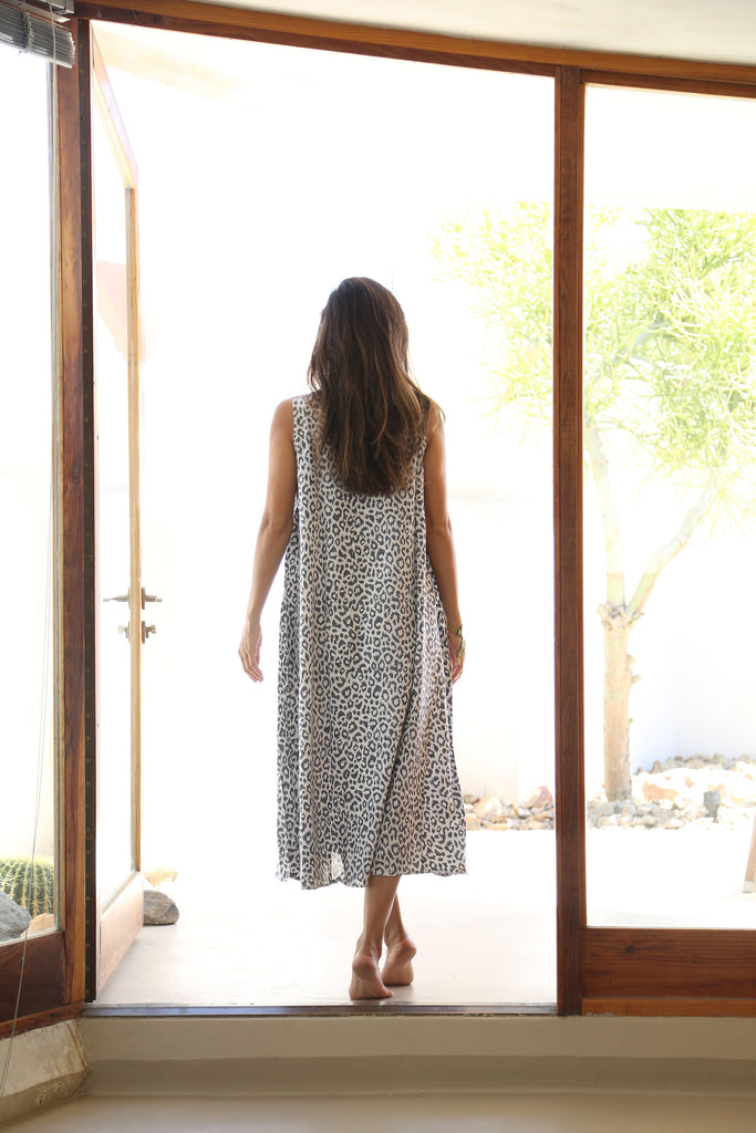 Emerson Fry Charcoal Leopard Caftan