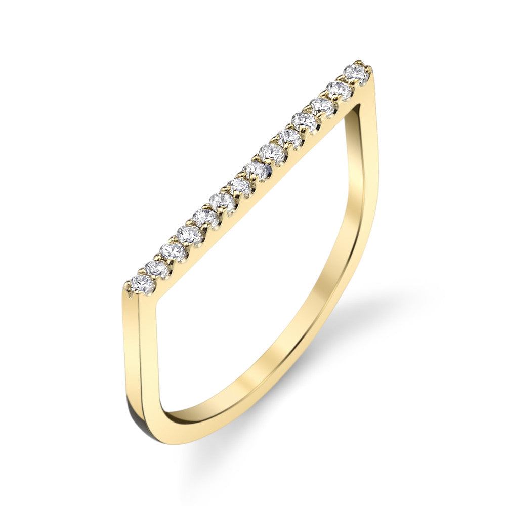 Pave Flat Axis Ring
