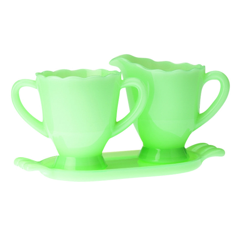 Jadeite Cream & Sugar Set