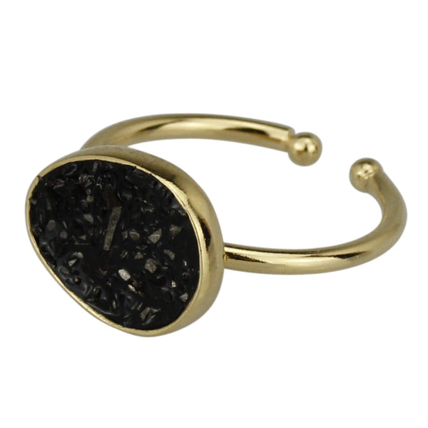 Lagon Ring Small, Black