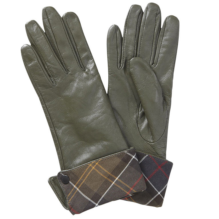Lady Jane Leather Gloves, Olive