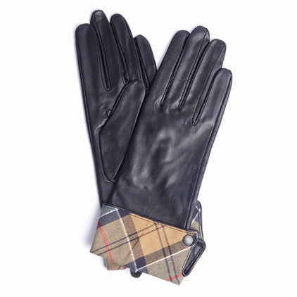 Lady Jane Leather Gloves, Black