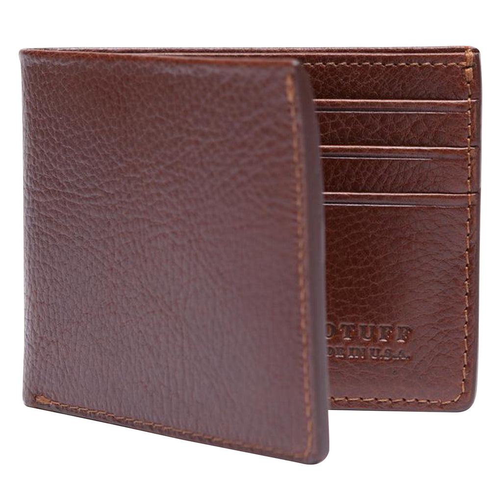 Leather Bifold Wallet, Indigo