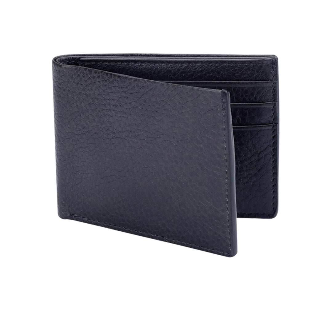 Leather Bifold Wallet, Navy