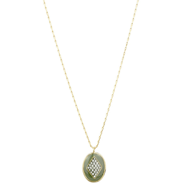 Orphee Necklace, Green