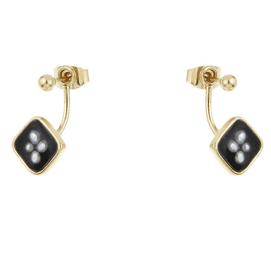 Oxford Earrings Medium, Black