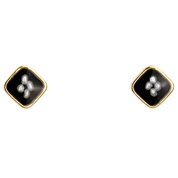Oxford Earrings Small, Black
