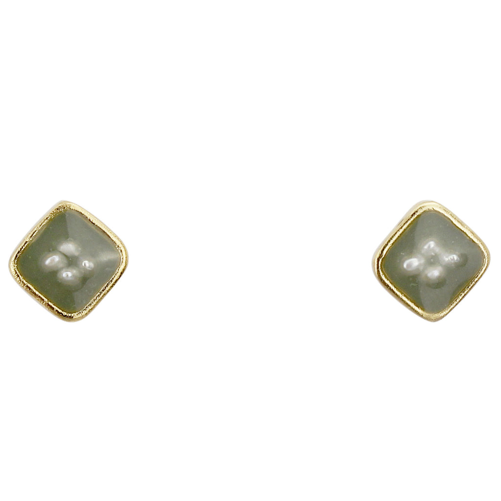 Oxford Earrings Small, Green