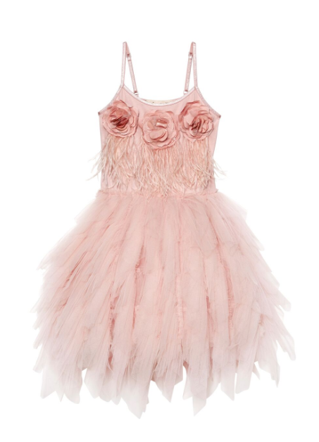 Queen of Roses Tutu Dress - Marshmallow