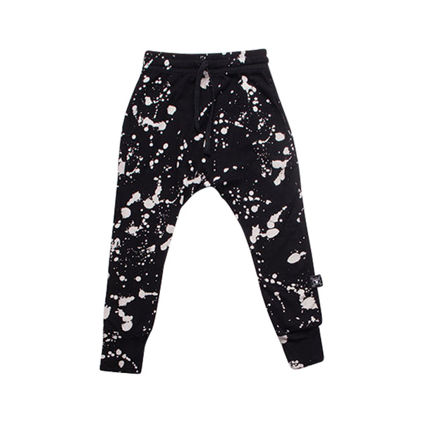 Splash Baggy Pants, Black
