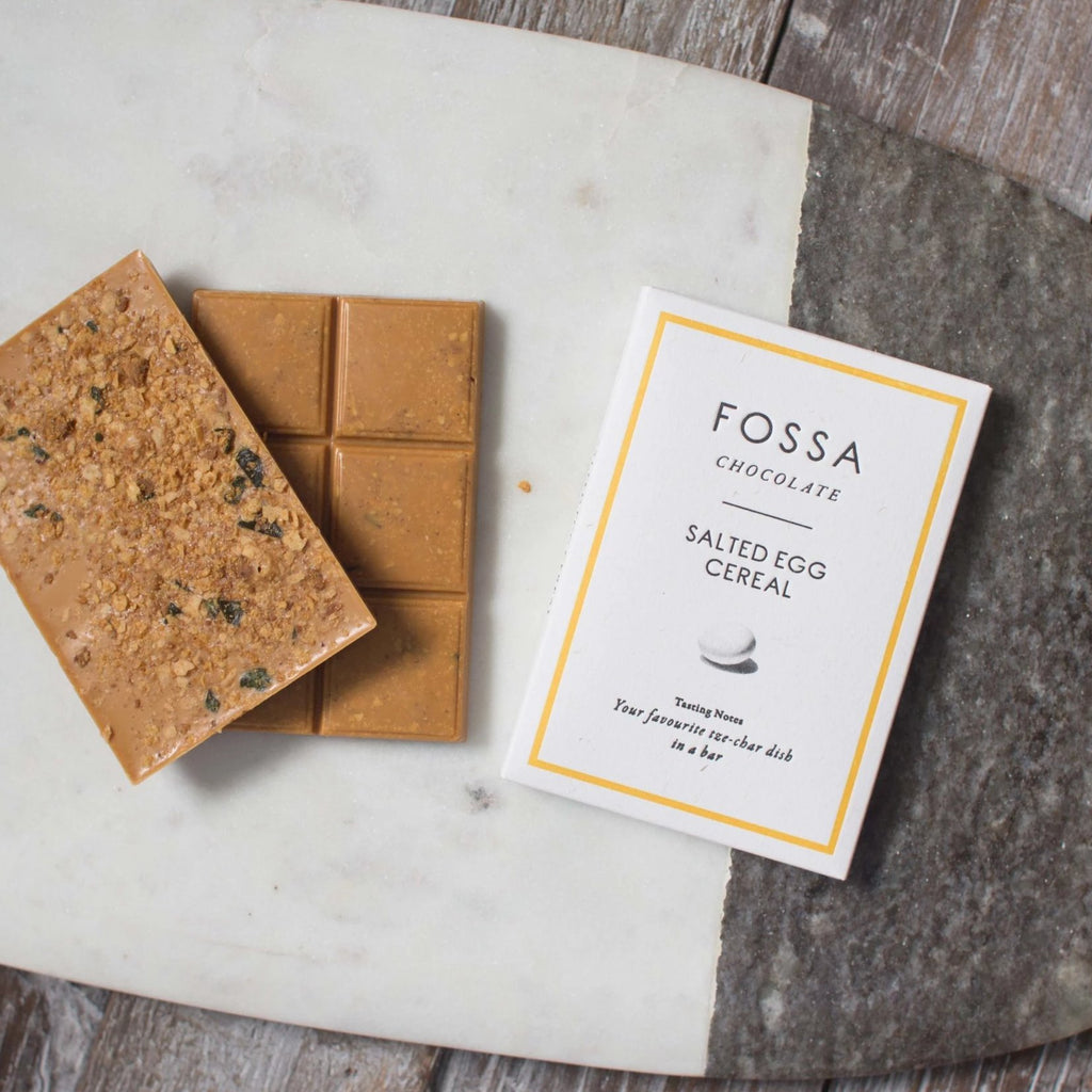 Fossa Salted Egg Cereal Blond Chocolate