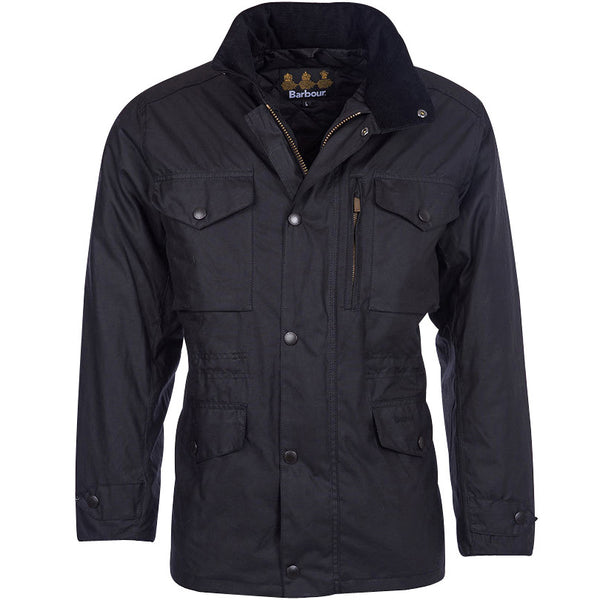 Sapper Wax Jacket, Black