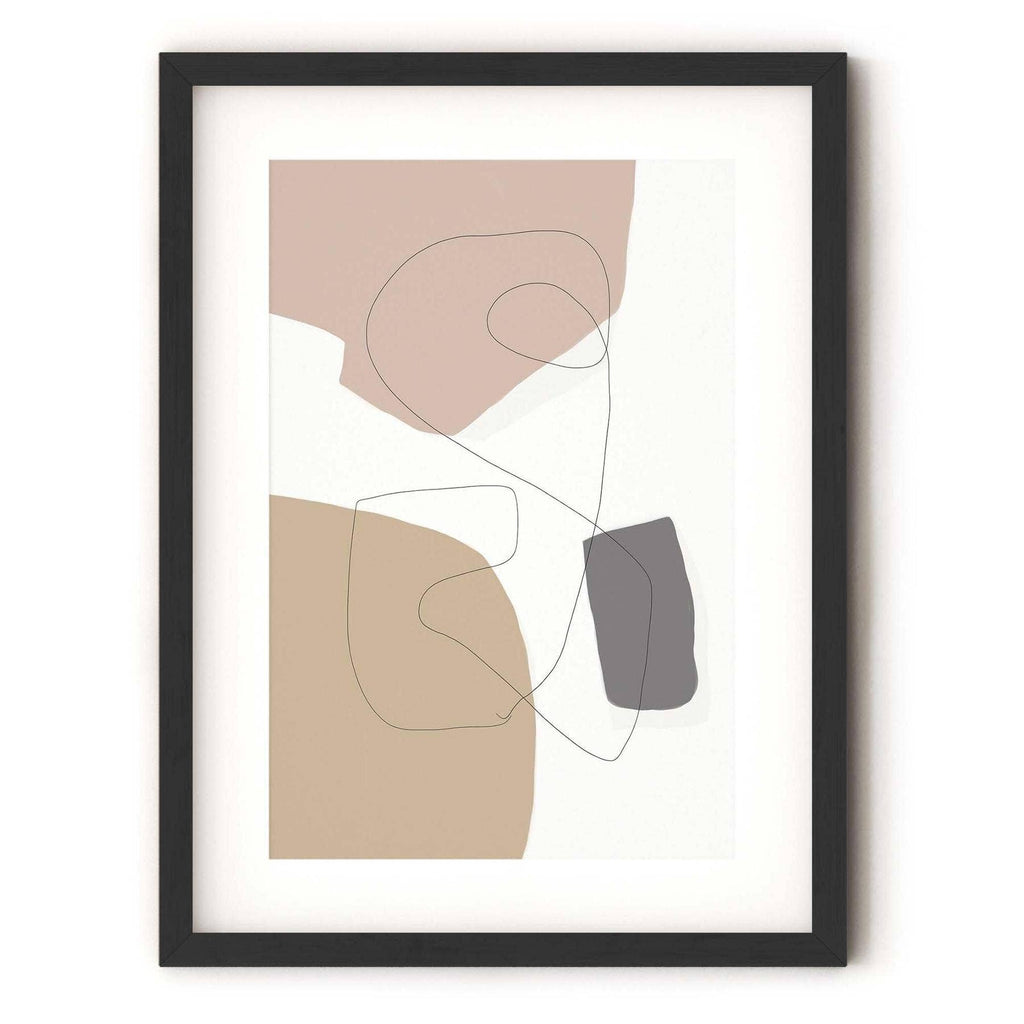 Scandi Shapes With Lines 2 Art Print