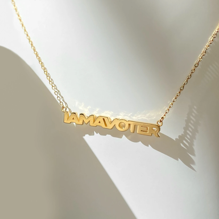 I AM A VOTER Necklace