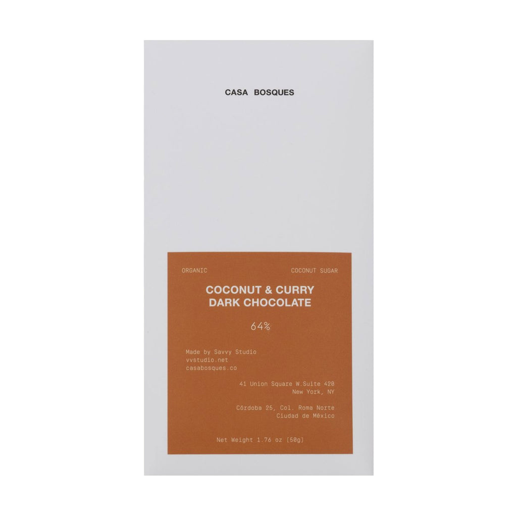 Coconut & Curry Organic Chocolate Bar