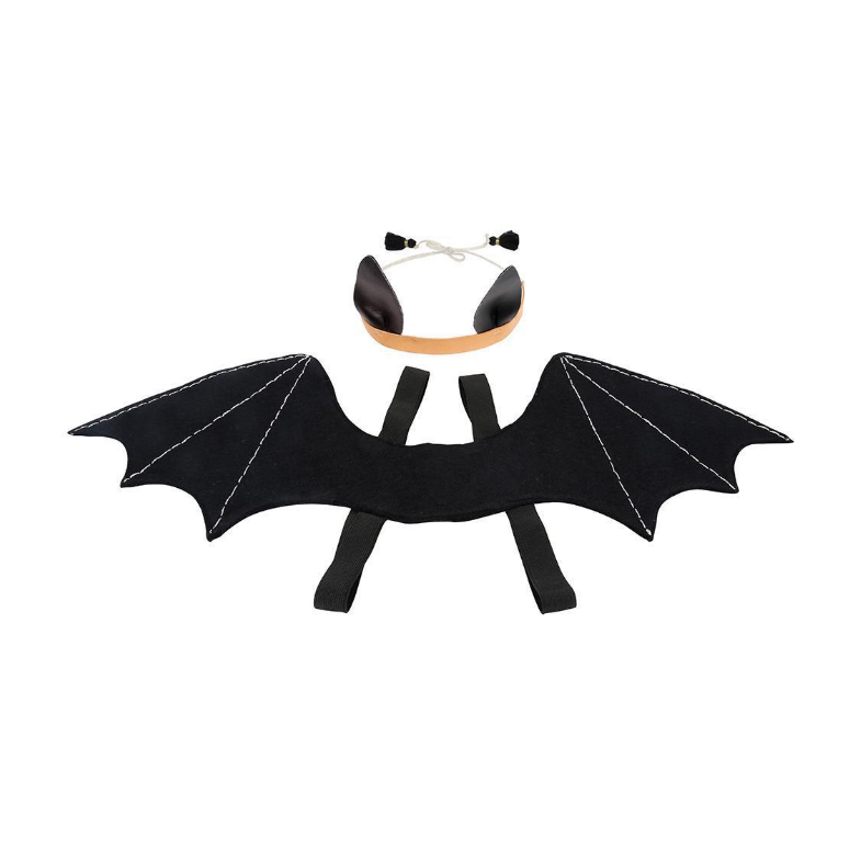 Halloween Bat Wings And Headdress Dress-Up Kit