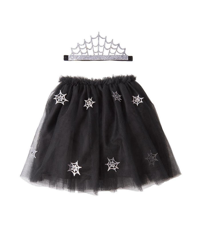 Cobweb Tiara and Tutu Dress-Up Set