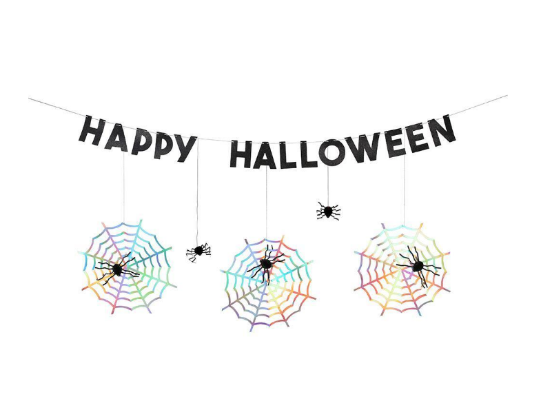 Spider Web Halloween Spider Garland
