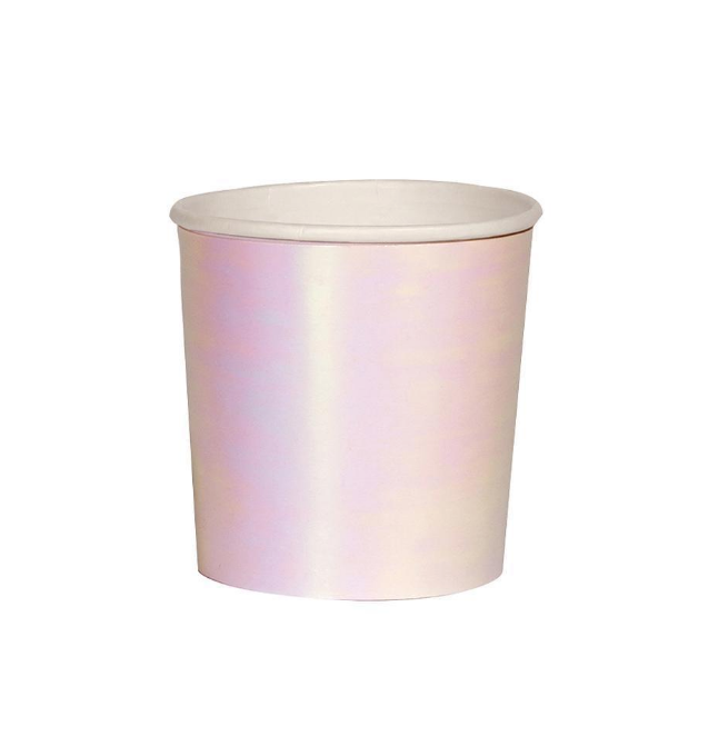Small Sparkly Silver Holographic Tumbler Cup