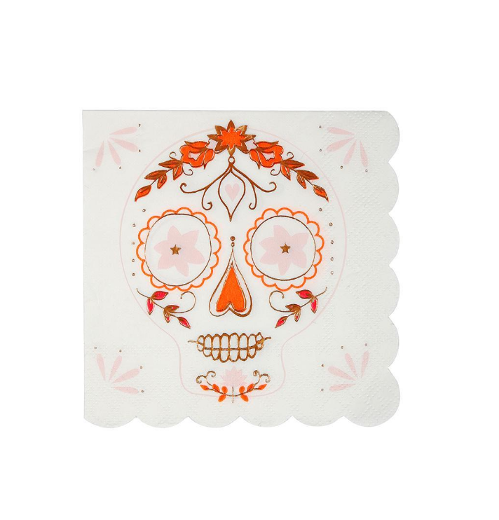 Sugar Skull Napkin Small