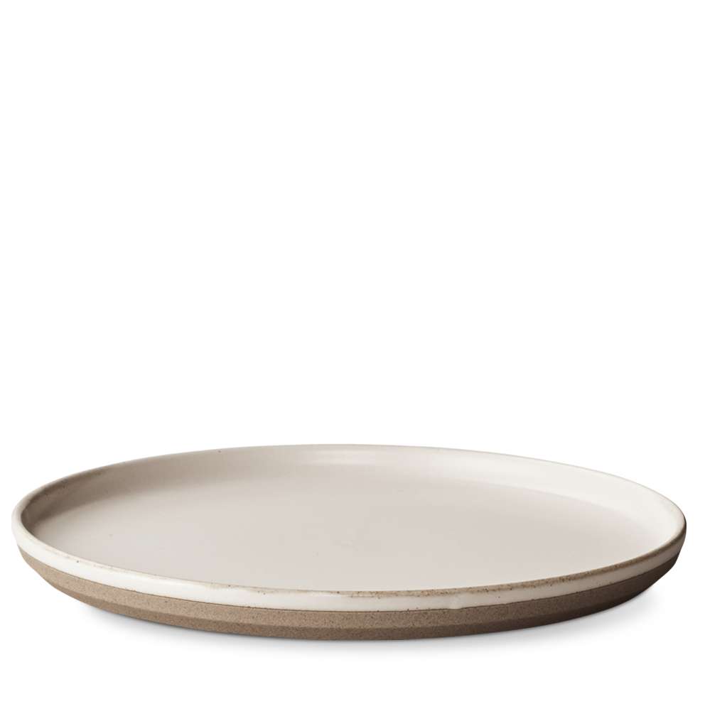 Ceramic Lab Dinner Plate- White