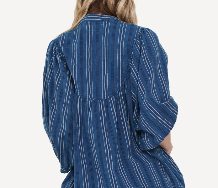 SALE! The Orchard Top, Blue Tiller Stripe