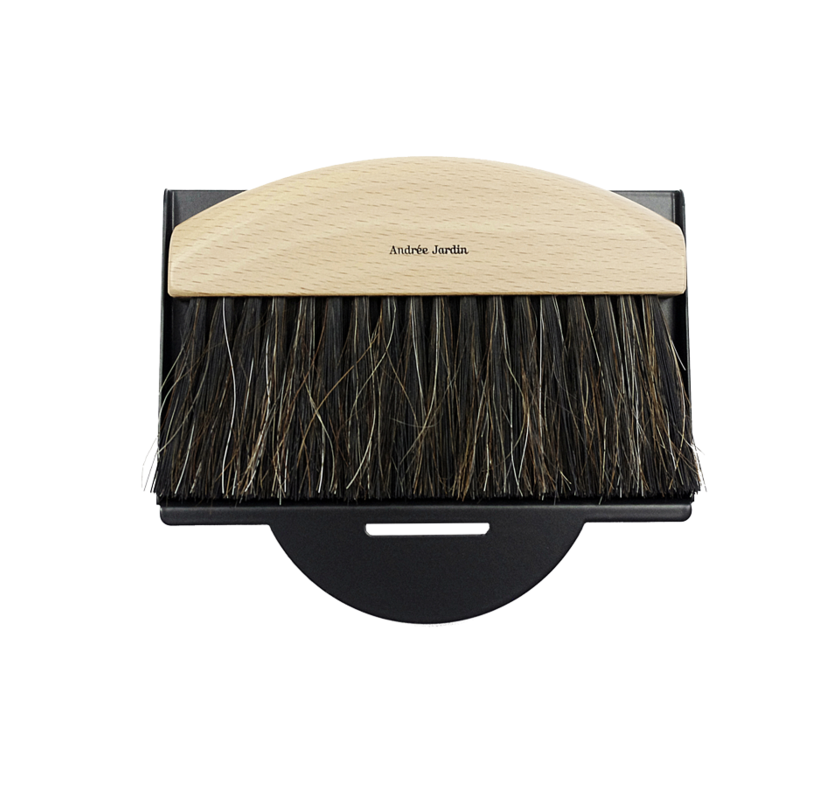 Mr. & Mrs. Clynk Mini Brush Dustpan Table Broom Set, Black