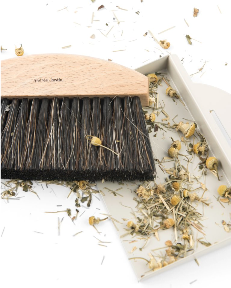 Mr. & Mrs. Clynk Mini Brush Dustpan Table Broom Set, Grey