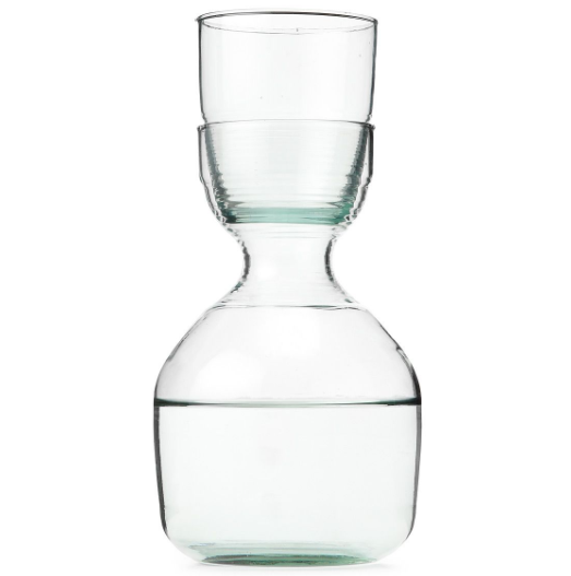 Recycled Glass Carafe & Tumbler Set