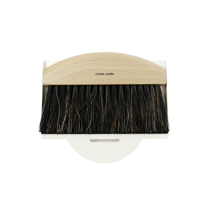 Mr. & Mrs. Clynk Mini Brush Dustpan Table Broom Set, Cream