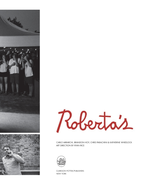 Roberta''s Cookbook