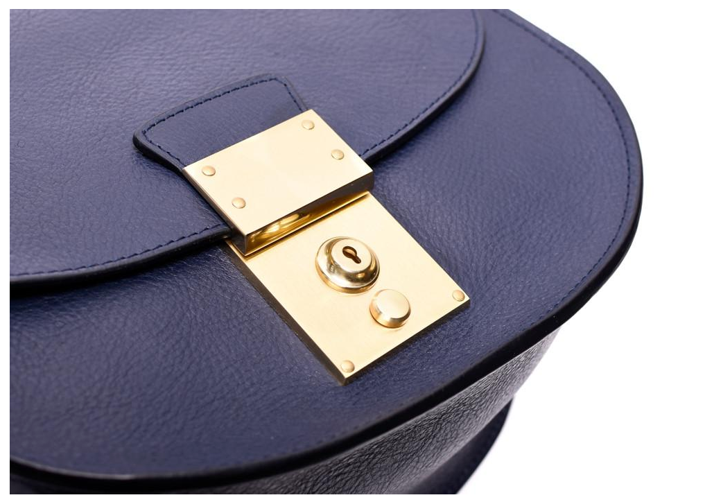 Arc Shoulder Bag, Indigo & Electric Blue