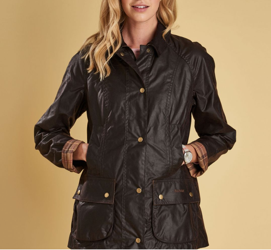 Ladies Beadnell Wax Jacket, Rustic