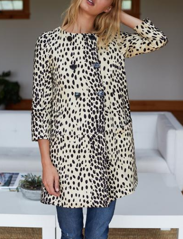 Emerson Fry London Coat, Leopard