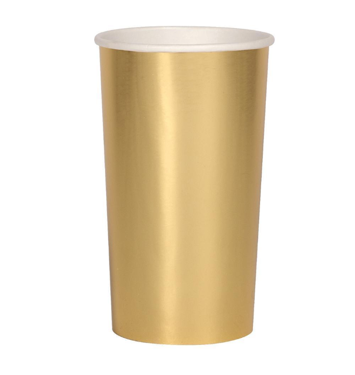 Large Gold Highball Cup