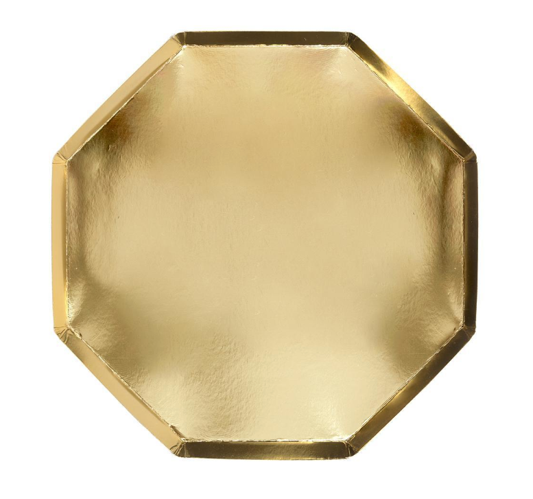 Large Gold Octagonal Plate