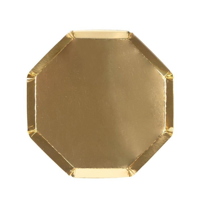 Gold Octagonal Side Plate