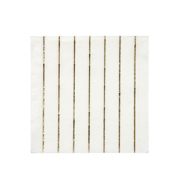Small Gold Striped Napkin