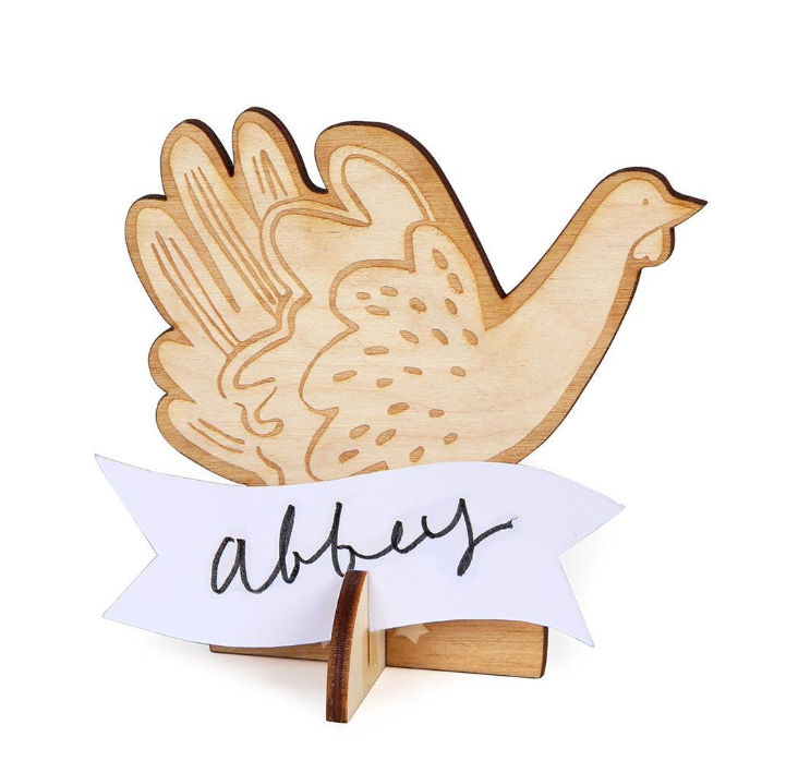 Thanksgiving Wooden Turkey Placecards
