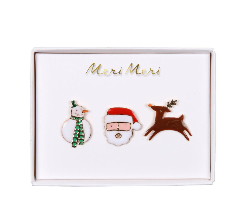 Christmas Character Enamel Pins- 50% OFF
