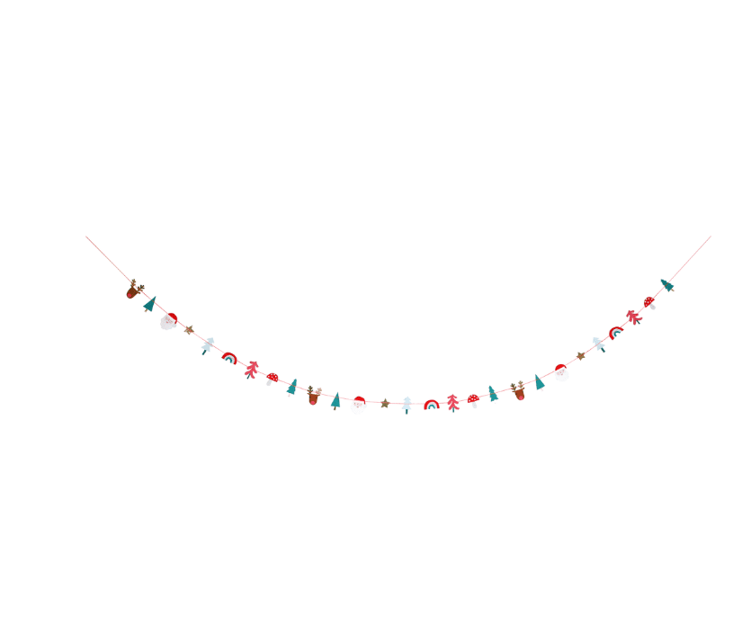 Festive Christmas Icons Mini Garland