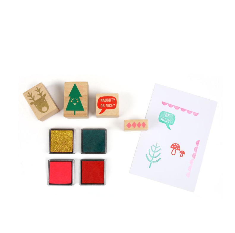 Jolly Rubber Stamp Set
