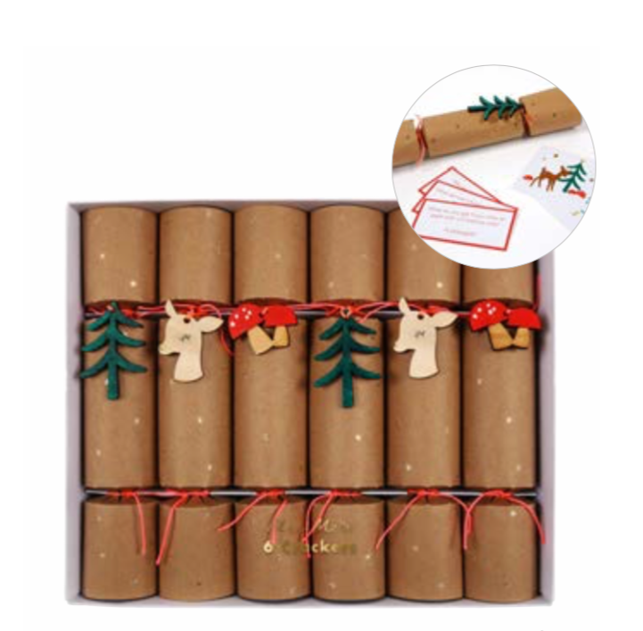 Woodland Creature Holiday Crackers