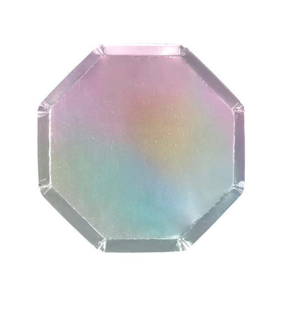 Small Silver Holographic Plate