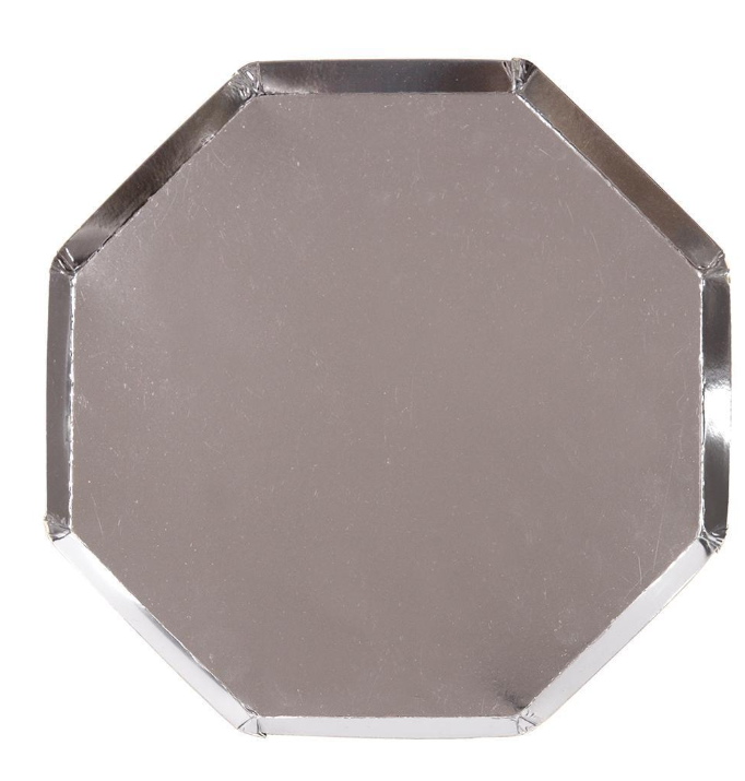 Large Silver Octagonal Plate